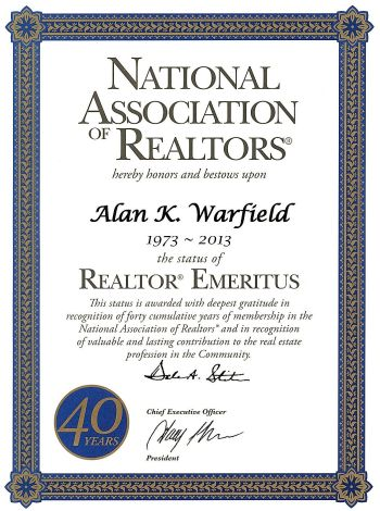 Realtor Emeritus Award